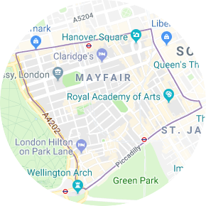 Mayfair Photo Booth Hire map