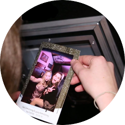 Mirrored photo booth rental for your wedding